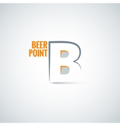 Beer point background vector