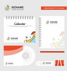 bird logo calendar template cd cover diary and vector image