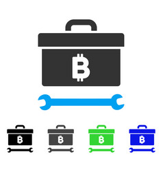 bitcoin toolbox flat icon vector image