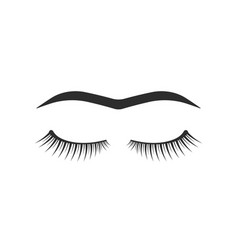 Black eyelashes with unibrow vector