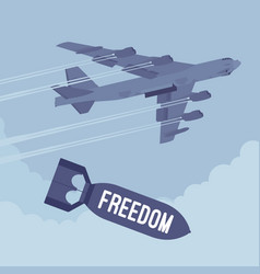bomber and freedom bombing vector image