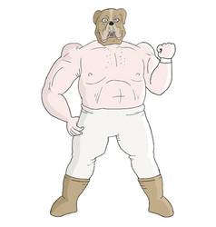 Bulldog fighter vector