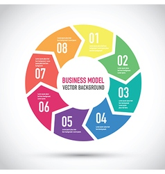 business model vector image