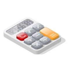 Calculator detailed isometric icon vector