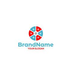 circle plan real estate logo design vector image