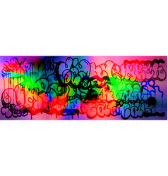 Colourful glitch abstract background vector