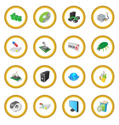 computer service icon circle vector image