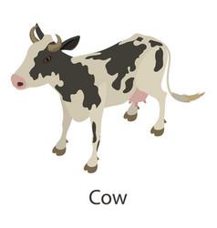 Cow icon isometric style vector