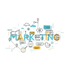 Creative of marketing word vector