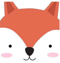 Cute fox face cartoon vector