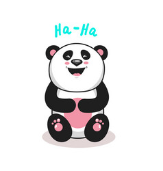 cute panda2 vector image