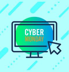 Cyber monday sale design concept modern trend vector