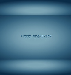 Dark studio room vector