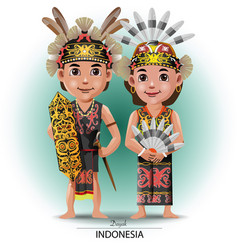 Dayak traditional cloth vector