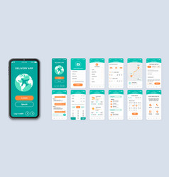 Delivery ui smartphone interface vector