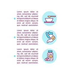 Dietary approaches and medication concept line vector