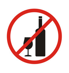 do not drink icon no drink sign isolated on white vector image