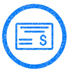 dollar cheque rounded grainy icon vector image