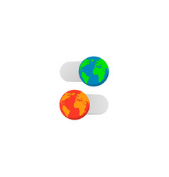 earth slider turn off on vector image