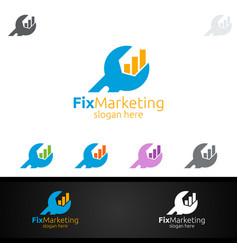 Fix marketing financial advisor logo design vector