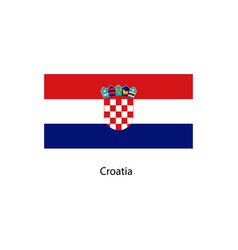 flag of croatia accurate dimensions vector image