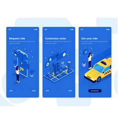 flat design oneboarding concepts - isometric vector image
