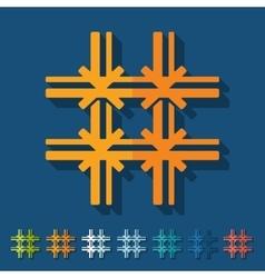 Flat design prison vector image