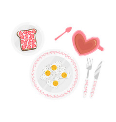 flat perfect breakfast isolated vector image