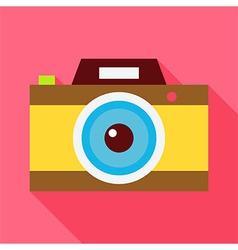 Flat Photo Camera with Long Shadow vector image