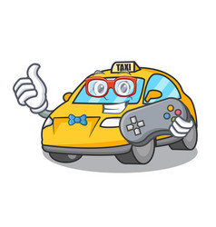 Gamer taxi character mascot style vector
