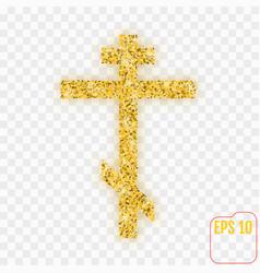 golden cross gold confetti concept vector image
