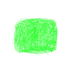Green crayon scribble texture stain isolated vector