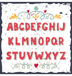Hand drawn doodle alphabet vector