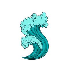 High sea tide bright blue vector