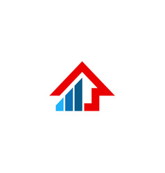 house building line colored company logo vector image