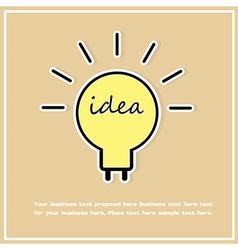 Idea bulbs abstract background vector