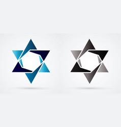 Israel star modern star luxury graphic vector