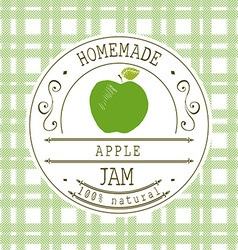 Jam label design template for apple dessert vector