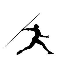 Javelin throw male athlete vector