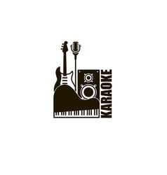 karaoke party emblem vector image