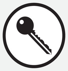 Key icon monochrome black white vector