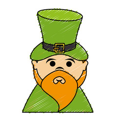 Leprechaun avatar character icon vector