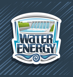 Logo for water energy vector