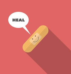 Medical smiling face on bandage vector