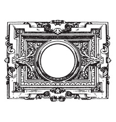 Modern french architectural frame is surrounded vector