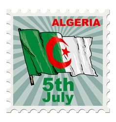 National day of algeria vector