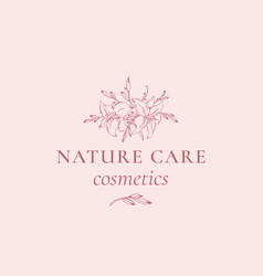 Nature care cosmetics abstract sign symbol vector