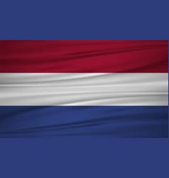 netherlands flag flag of netherlands blowig in vector image