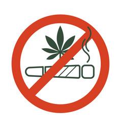 No drugs allowed marijuana joint spliff with vector