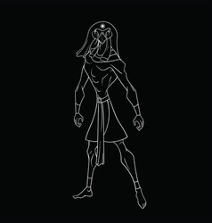 On a black background white silhouette of ra vector